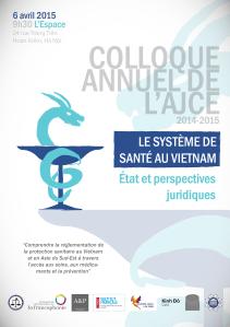 L'affiche du colloque annuel de l'AJCE réalisée par Louis Boulay.