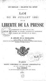 Loi 1881 LTJ